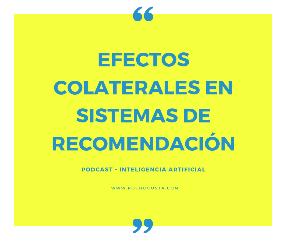 efectos colaterales en sistemas de recomendacion